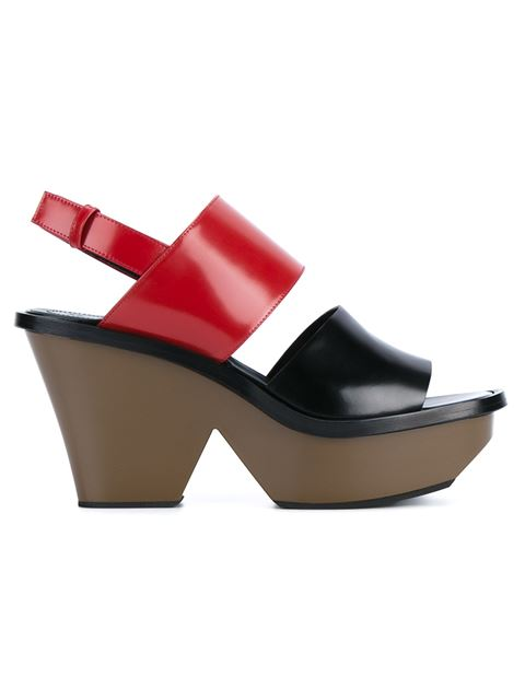 5a3877c55 MARNI COLORBLOCK LEATHER PLATFORM SANDALS