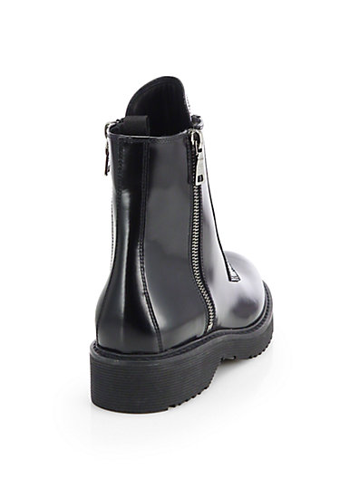 Cheap Sale Comfortable Prada Buckle Patent Leather Ankle Boots Discount Ebay Shop For For Sale tbTft