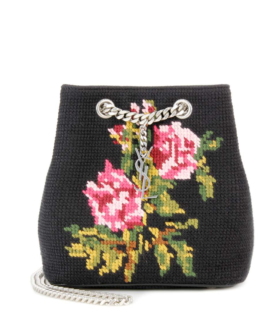 ... saint laurent ysl embroidered baby bucket chain bag 425068 . bcf070070475d