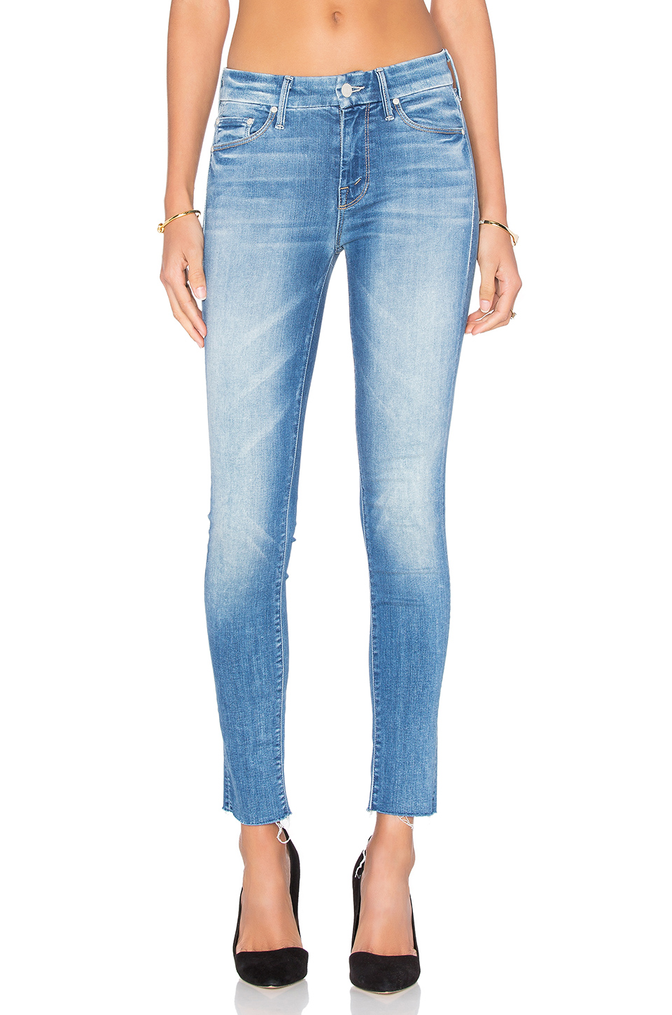 The Looker Ankle Fray Jeans In Birds Of Paradise