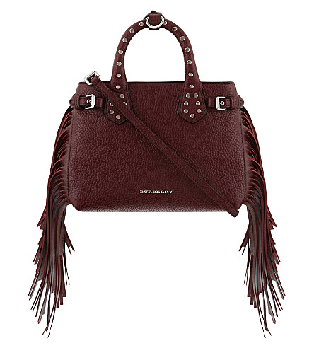f5db634de305 BURBERRY Baby Banner Leather Fringe Tote