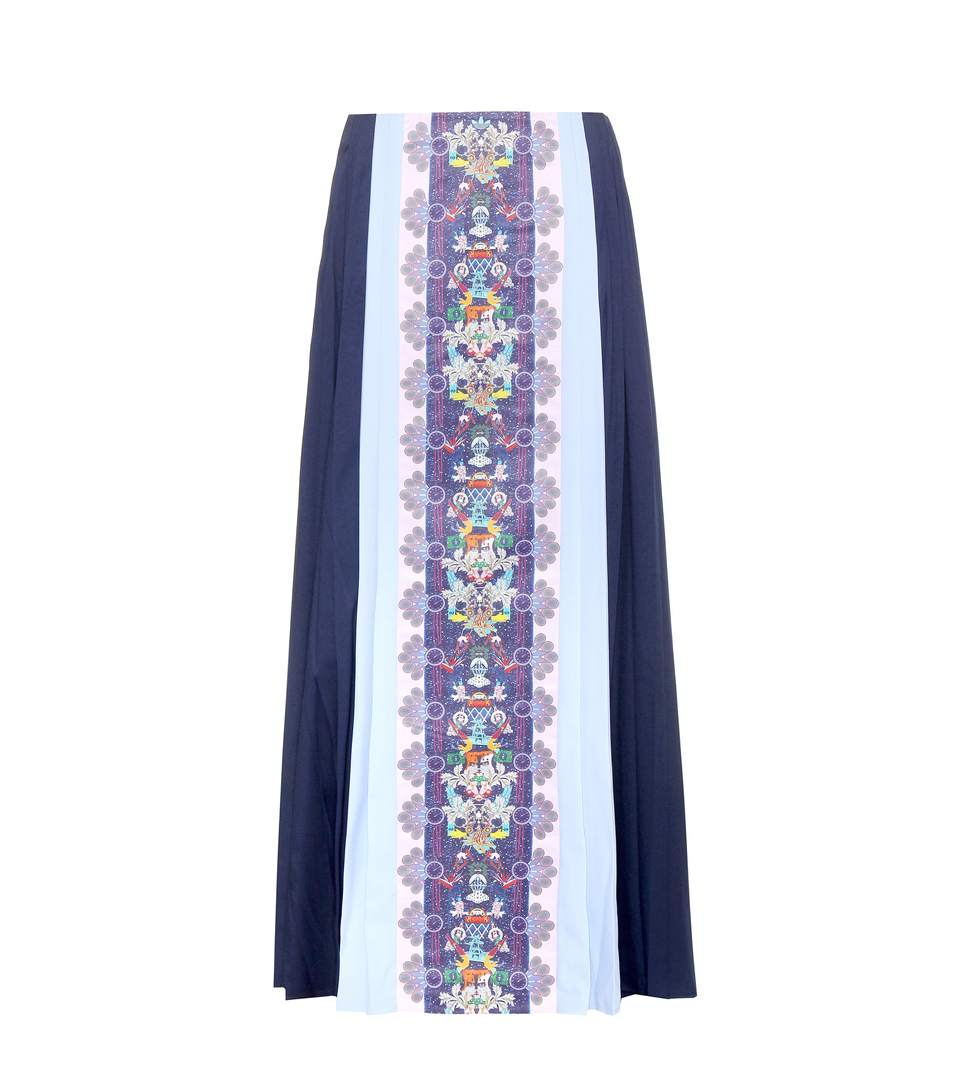 ADIDAS BY MARY KATRANTZOU Pleated Color Blocked Mesh Skirt in Multicoloured