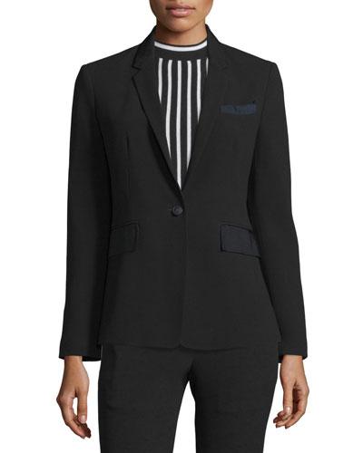 Crepe Windsor Jacket - Black Size 12