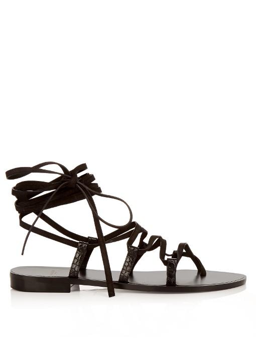 Nu Pieds lace-up sandals - Black Saint Laurent bkFSQo