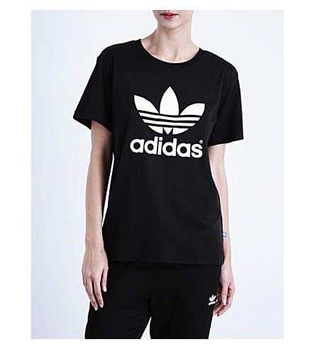 Adicolor T-Shirt With Trefoil Logo In Black Cw0709 - Black