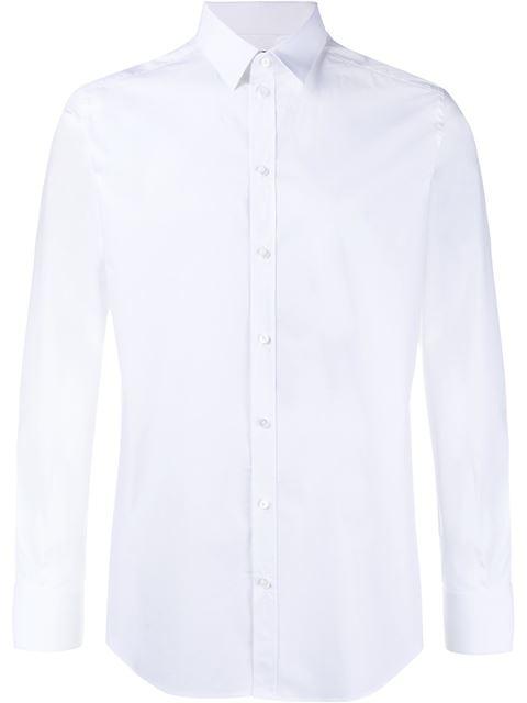 Gold Line White Stretch Cotton Shirt