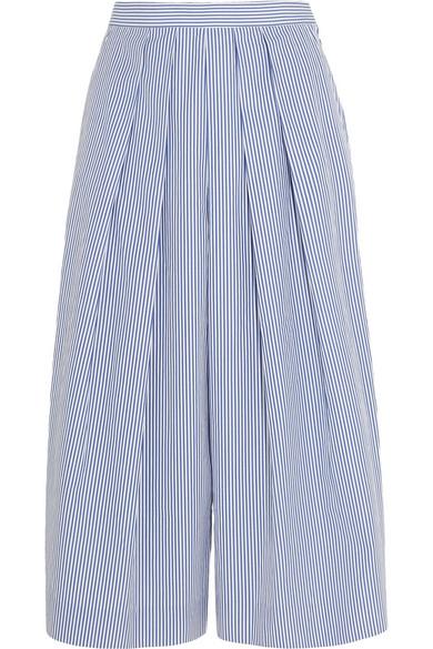 J.CREW Striped Cotton-Poplin Culottes