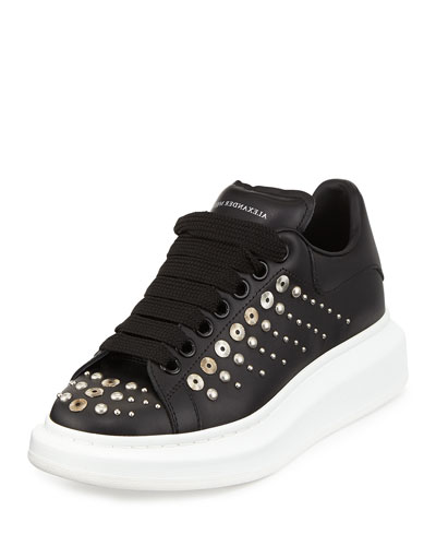 Studded leather sneakers Alexander McQueen