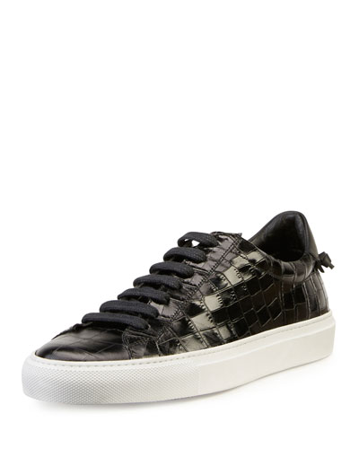 Givenchy Urban Street Line Knot Croc Embossed Patent