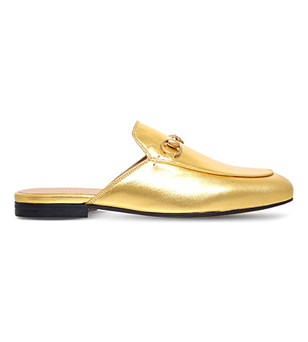Princeton Leather Slipper, Gold
