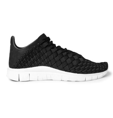sports shoes ac3bd 4c2b2 ireland nike free inneva nubuck trimmed woven mesh sneakers in black 41f54  b1fa3