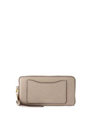 Recruit Leather Continental Zip Wallet, Mink