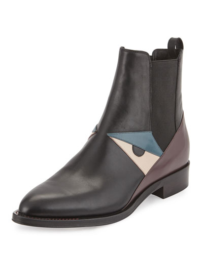 Fendi Black Leather Chelsea Boots 1c0Cwxhn