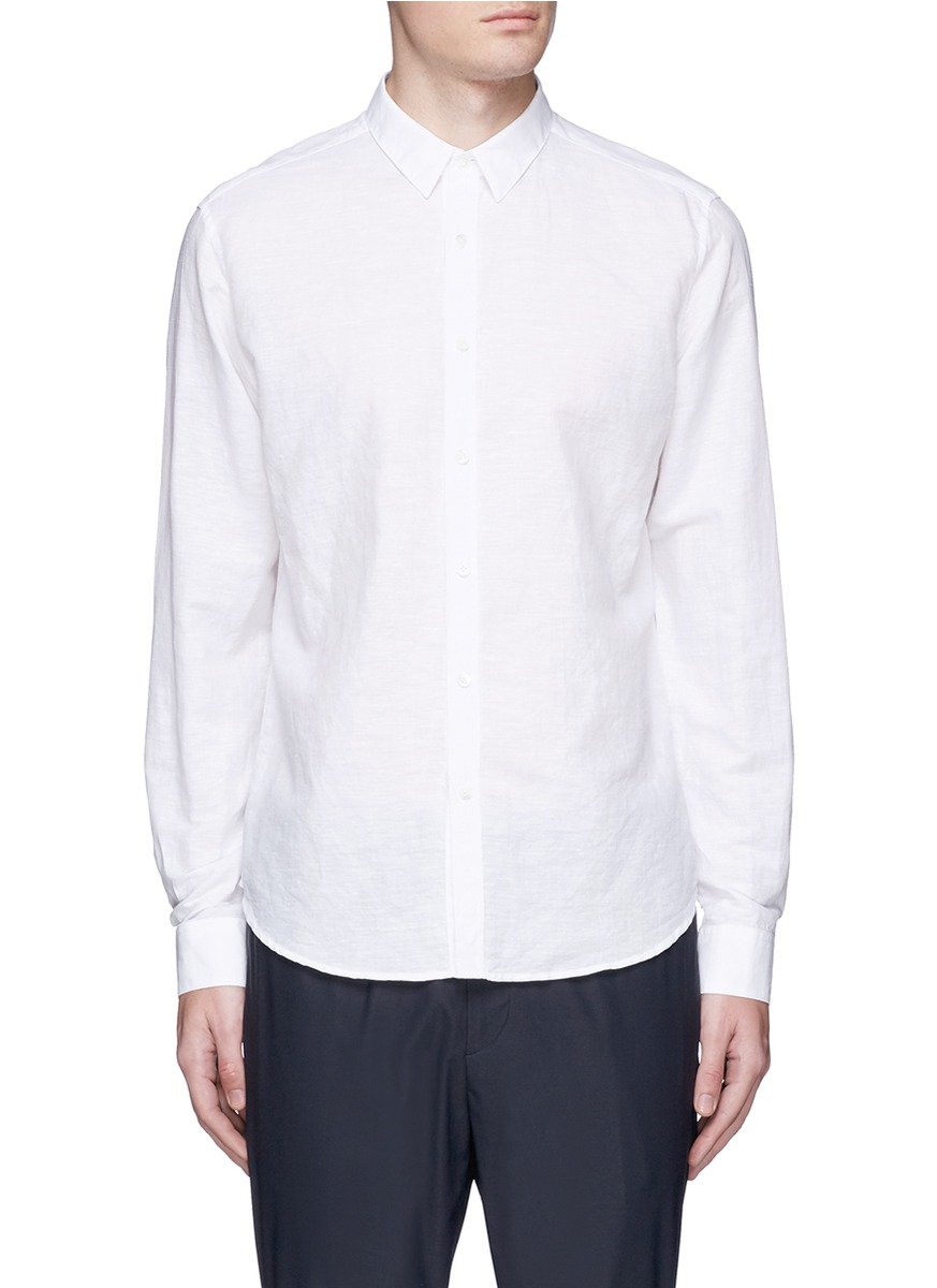 THEORY Sylvain Wealth Button-Down Shirt - Slim Fit in White
