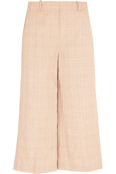 J.CREW Collection Plaid Linen And Cotton-Blend Culottes in Sand