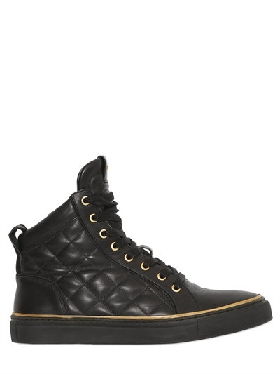 quilted high-top sneakers - Black Balmain