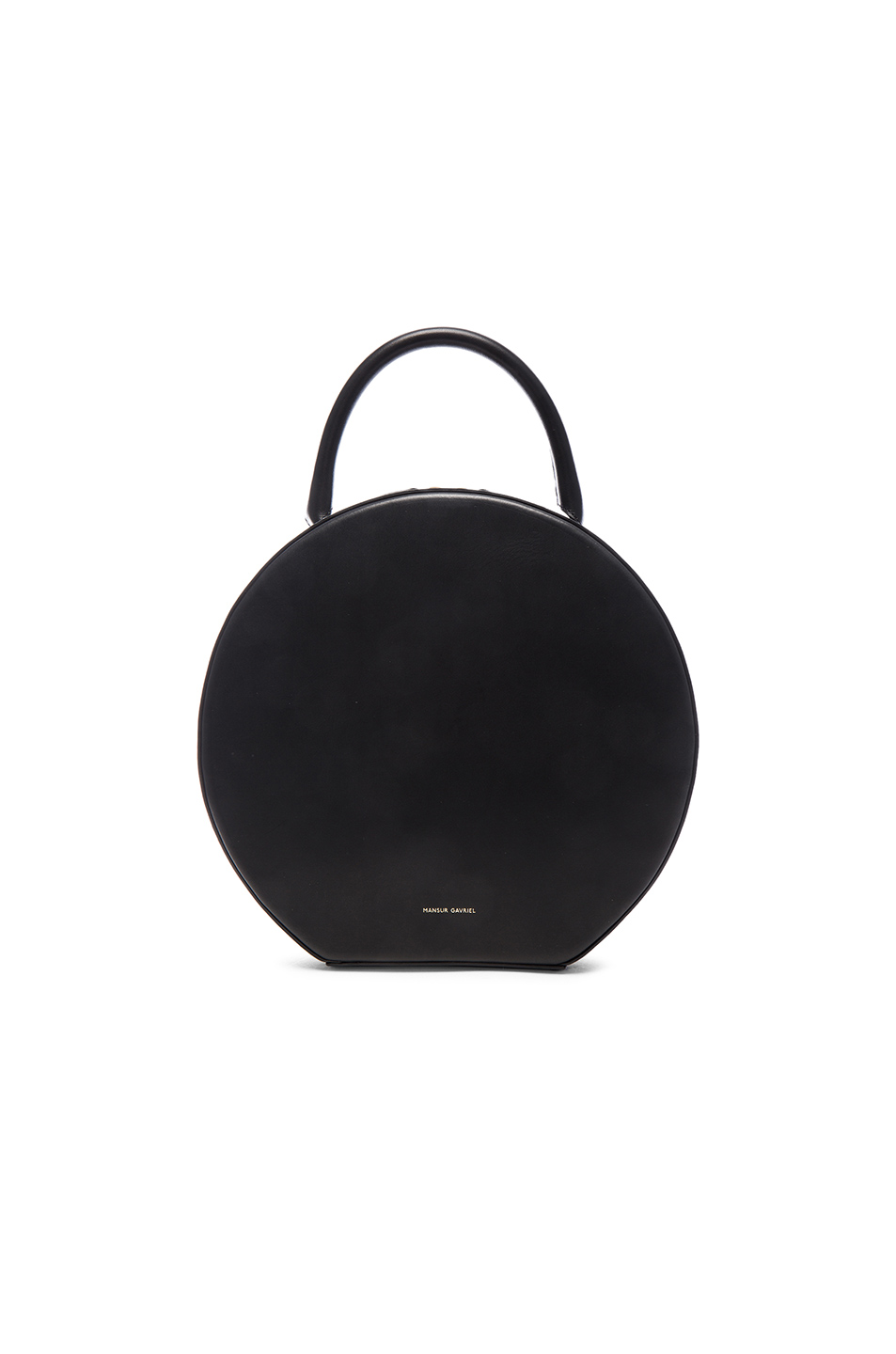 Circle Vegetable-Tanned Leather Crossbody Bag in Black