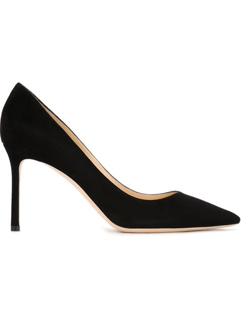 Women'S Romy 85 Suede High-Heel Pointed Toe Pumps in Black from Moda Operandi