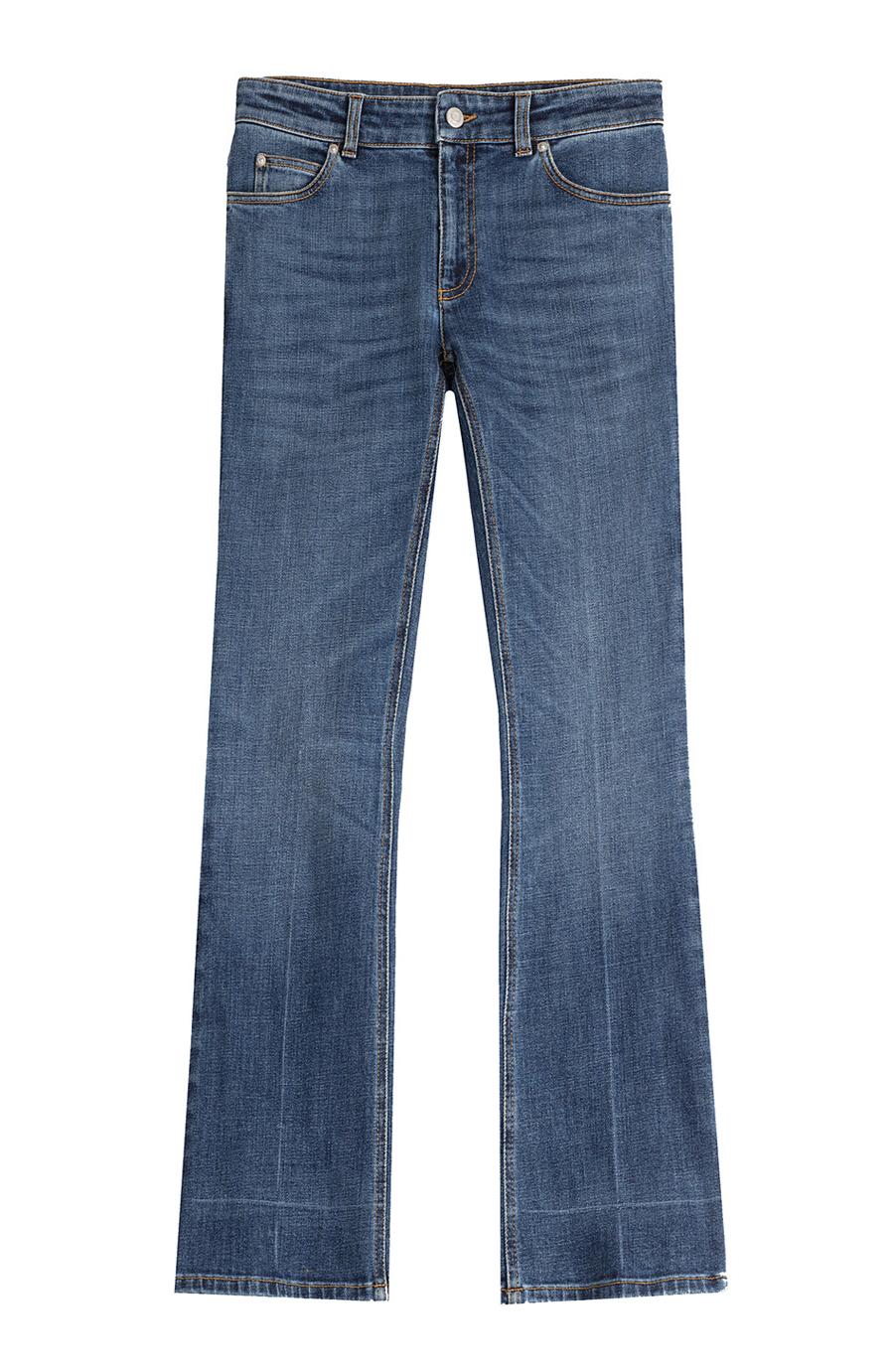 Cropped Boyfriend Jeans in Blue