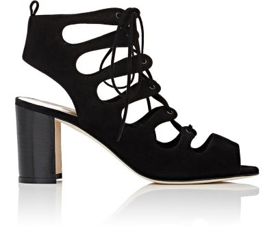 Manolo Blahnik Suede Caged Sandals Clearance New Arrival Outlet With Credit Card 100% Original Cheap Online 9ciX2TyHa6
