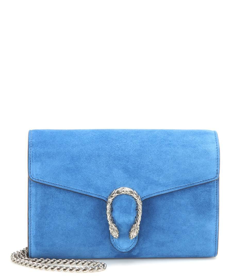 2c499477277de5 Gucci Dionysus Chain Wallet Mini Suede Shoulder Bag In Vietage Lluette