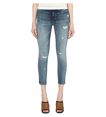 Alana Skinny-Fit Mid-Rise Cropped Jeans, Rendition