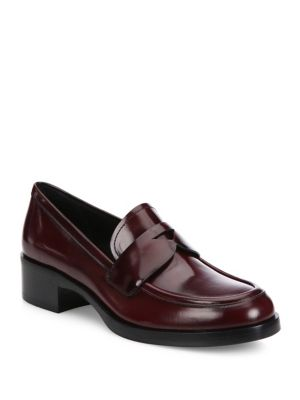 PradaBRUSHED LEATHER PENNY LOAFERS 4TBIK6