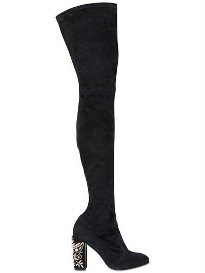 Rene Caovilla Crystal Embellished Block Heel Bootie mlda1t