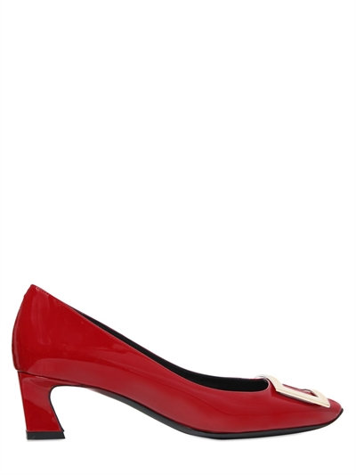 Belle Vivier Trompette Pumps In Patent Leather in Red from Roger Vivier