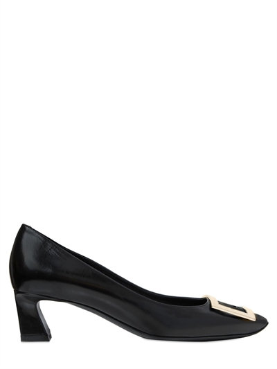 Belle Vivier Trompette Pumps In Patent Leather in Black from Roger Vivier