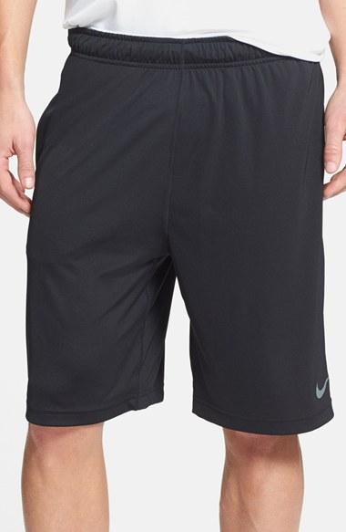 quality design 4818d 1bfc5 ... NIKE Fly 2.0 Dri-Fit Knit Training Shorts in Black Flint Grey Nike Mens  ...