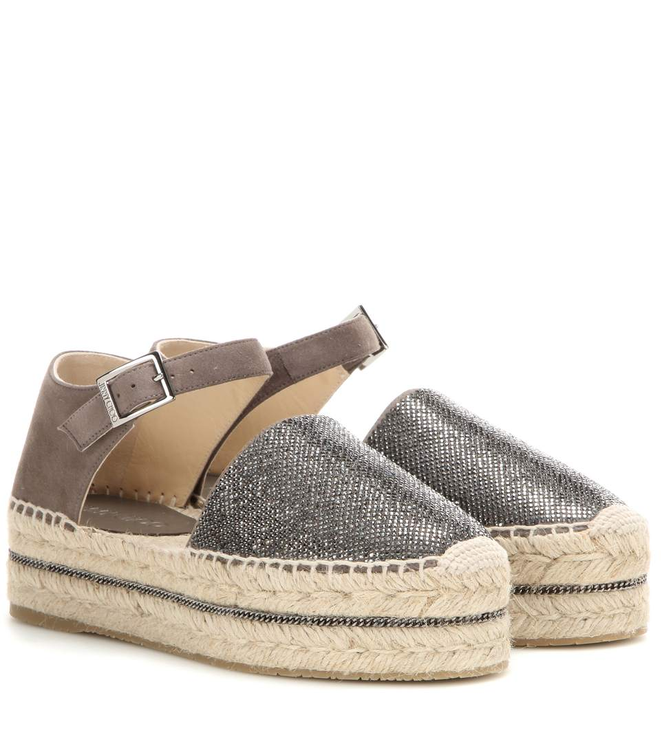outlet with paypal Jimmy Choo Suede Platform Espadrilles amazing price online VuEH4uwt