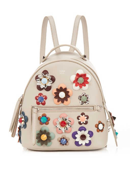Embellished leather backpack Fendi Cheap Clearance Store Free Shipping Good Selling 100% Guaranteed Buy Cheap Limited Edition VNtlnc1