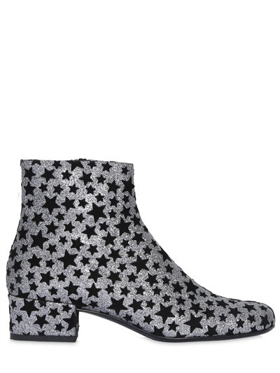 Babies Star-Embellished Glitter Ankle Boots in Black Silver