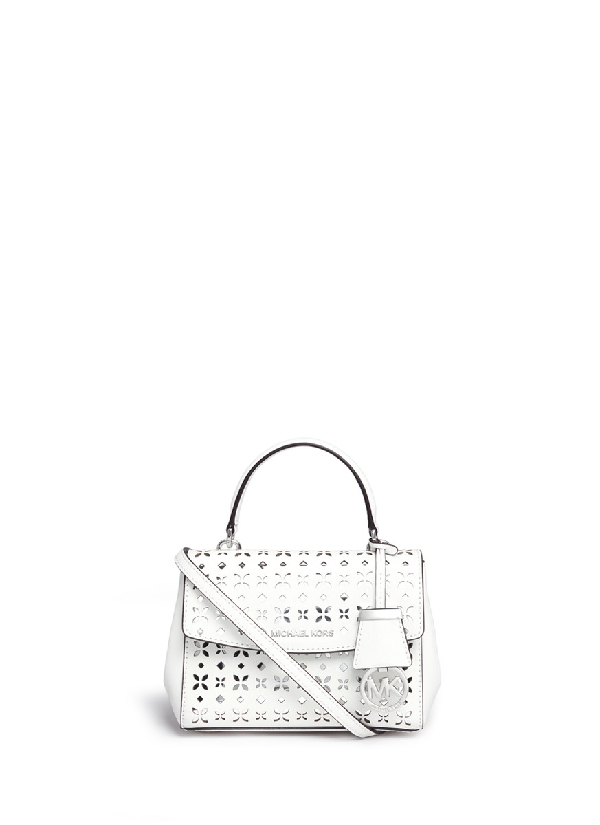 12f779cb0bd0 MICHAEL KORS  Ava  Extra Small Perforated Leather Crossbody Bag ...