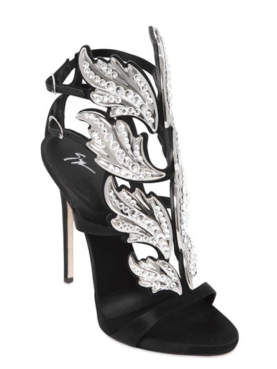 - Leather Sandal With Cruel Accessory Cruel Crystal, Black