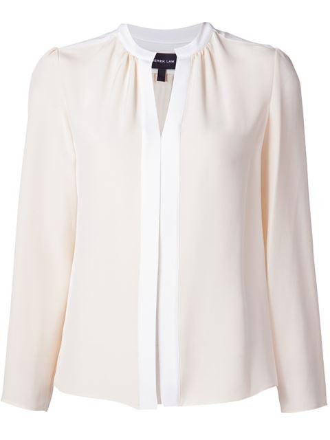 DEREK LAM Kara Silk Crêpe De Chine Blouse - White Size 38 It