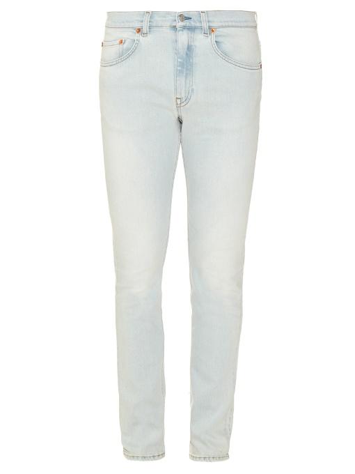North Slim-Fit Stretch-Denim Jeans - Blue in Lt Blue