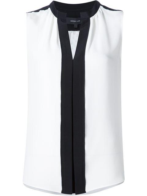 DEREK LAM Kara Silk Blouse - White Size 40 It