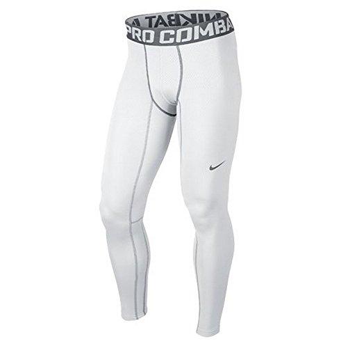 NIKE Men'S Pro Hyperwarm Dri-Fit Max Compression Tights, White/Cool Gray