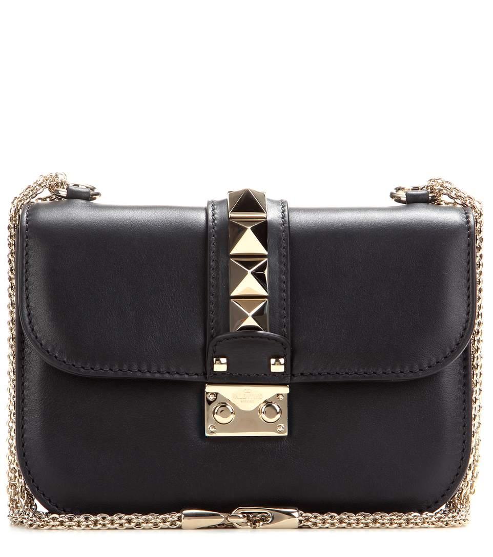 valentino medium lock studded leather shoulder bag black nero modesens. Black Bedroom Furniture Sets. Home Design Ideas