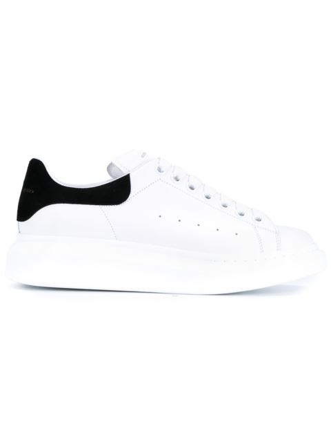 Leather Trainers With Black Suede Trim in White