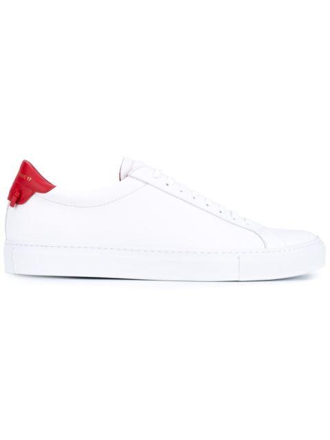 Men'S Urban Street Leather Low-Top Sneakers, White