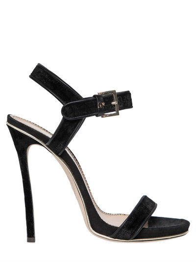 DSQUARED2 Black Velvet And Suede High Heel Sandal