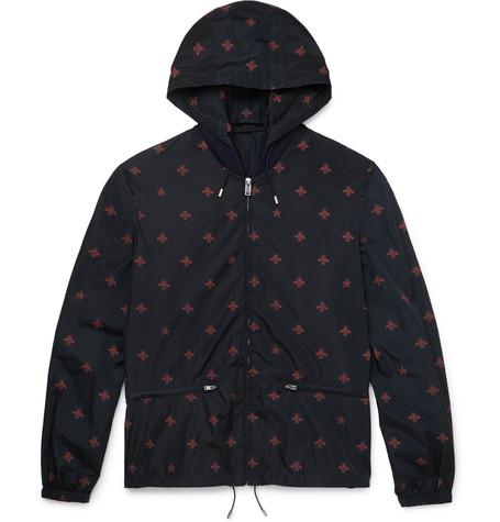 gucci wasp print windbreaker jacket navy modesens