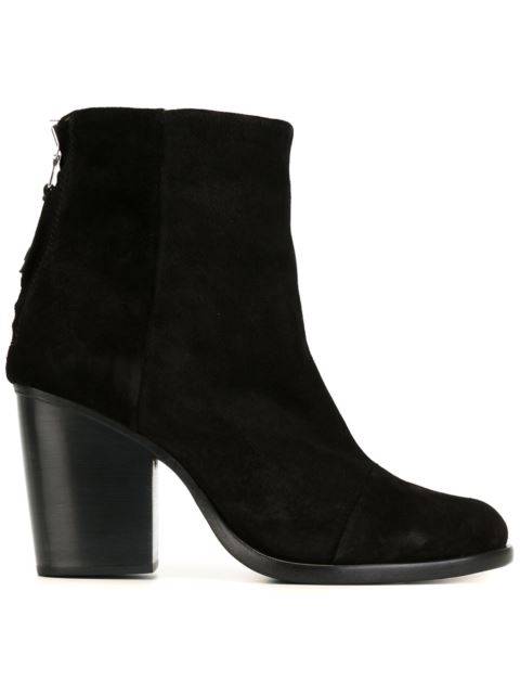 Ashby Mid-Heel Ankle Boots, Black
