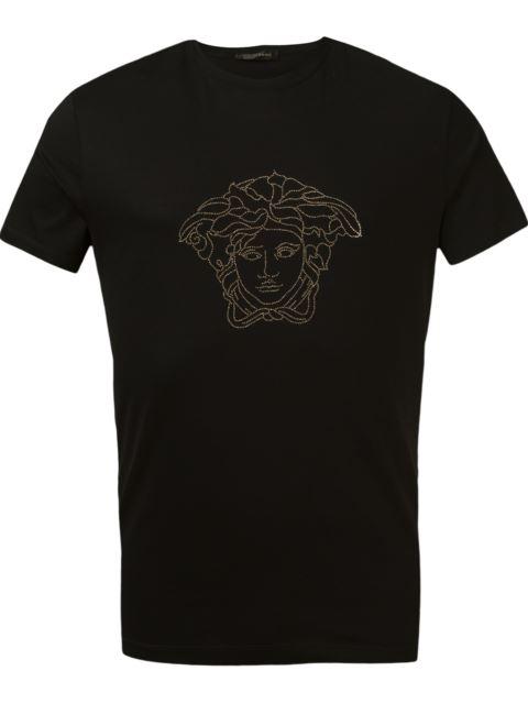 Black Small Studded Medusa T-Shirt