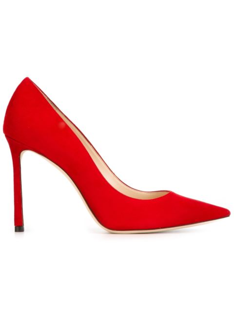 Women'S Romy 100 Suede Pointed Toe Pumps, Red