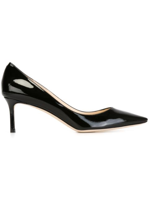 Romy 60 Patent Leather Pumps, Black
