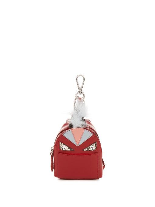 Mini Monster Backpack Charm For Handbag, Ruby Red, Crimson-Red